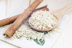Fragrant Rice with Cinnamon Stock Photos
