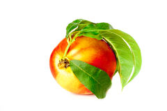 Fragrant ripe peach. Isolated on a white background Royalty Free Stock Images