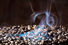 Fragrant roasted coffee beans royalty free stock photography