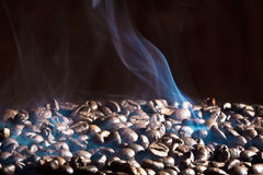 Fragrant roasted coffee beans stock photos