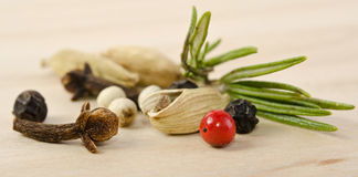 Fragrant scented natural spices Royalty Free Stock Photo