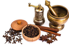 Fragrant spices used for cooking Royalty Free Stock Photos