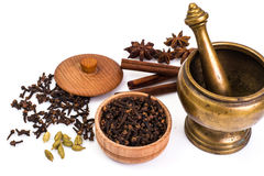 Fragrant spices used for cooking Royalty Free Stock Photography