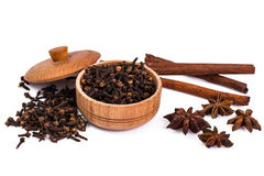 Fragrant spices used for cooking Stock Photography