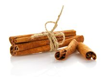 Fragrant, spicy cinnamon Royalty Free Stock Photos