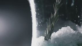 Fragrant sprigs in a flask. Close up stock video