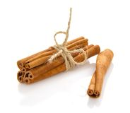The fragrant sticks of cinnamon Royalty Free Stock Photos