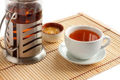 Fragrant tea with honey. Royalty Free Stock Images