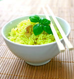 Fragrant yellow rice Stock Photos