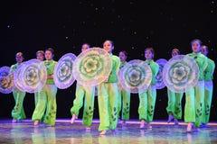 Fragrante ed elegante-gelsomino nella danza popolare di pittura-cinese del lavaggio e dell'inchiostro Fotografia Stock