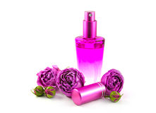 Fragranza dell'acqua di rose Fotografia Stock Libera da Diritti