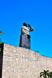 Frai安东de蒙特西诺斯雕象  免版税图库摄影