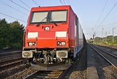 Fraight-entrene a la locomotora Foto de archivo