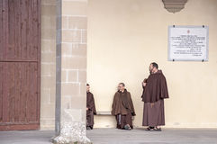 Frailes franciscanos Imágenes de archivo libres de regalías