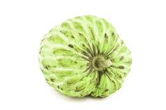 Frais corossol ou Sugar Apple Fruit Annona mûr, pomme cannelle d'isolement sur le fond blanc dessus avec le chemin de coupure Image libre de droits