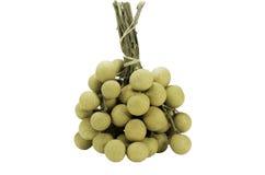 Frais de longan de fruit d'isolement sur le blanc Photo stock