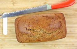 Frais de pain de pain de potiron cuit au four image libre de droits