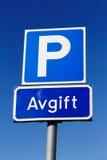 Frais de stationnement Photos libres de droits