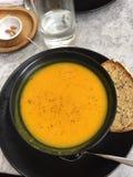 Frais sain de potiron végétarien sain de vegan de soupe Images libres de droits