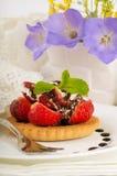 Fraise avec une menthe et un chocolat Image stock