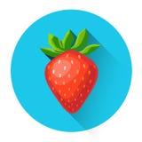 Fraise Berry Icon coloré Photo stock
