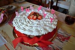 Fraise cake Photos libres de droits