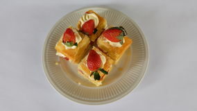 Fraise cake Photo libre de droits
