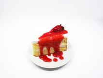 Fraise cake Photographie stock libre de droits