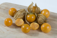 Fraise d'or (Physalis) Photo stock