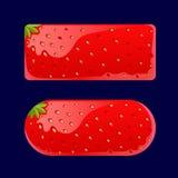 Fraise de boutons rouges de bande dessinée Image libre de droits
