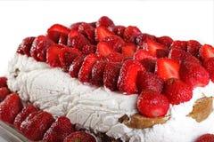 fraise de gâteau Photo stock