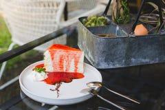 Fraise de gâteau image libre de droits