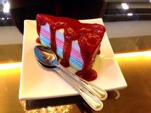 Fraise de gâteau de crêpe photo stock