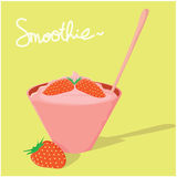 Fraise de Smoothie Photo stock