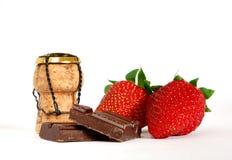 Fraise et chocolat Images libres de droits