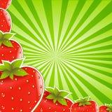 Fraise et rayon de soleil vert Photographie stock