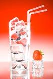 Fraise glacée grande de boissons Photos libres de droits