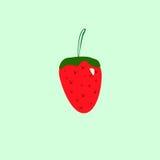 Fraise rouge sur un fond vert illustration stock