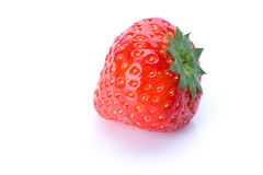 Fraise sur le blanc Photo stock