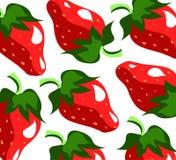 fraise sur le fond blanc Photo libre de droits