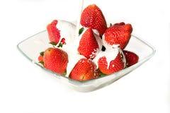 fraises crèmes Image stock