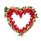 Fraises d'amoureux de Valentine d'isolement Images libres de droits