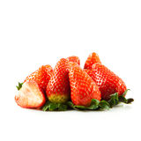Fraises d'isolement sur les fruits blancs de légumes de fond Images libres de droits