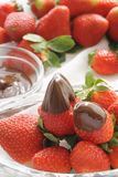 Fraises de chocolat Photo libre de droits
