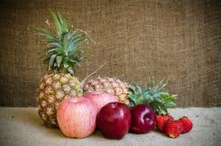 Fraises de pomme de pin et pomme Photos libres de droits