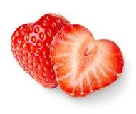 fraises en forme de coeur Photographie stock libre de droits