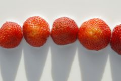 Fraises en lait Photo stock