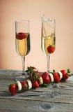 Fraises et champagne Photos stock