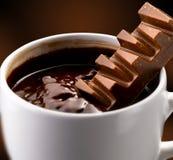 Fraises et chocolat Images stock