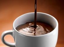 Fraises et chocolat Image stock